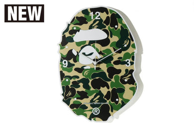 A BATHING APE Type MENS ABC CAMO APE HEAD WALL CLOCK - BAPEPLUGTO
