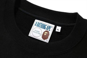 BAPE MEN'S RELAXED FIT COLLEGE CREWNECK - BAPEPLUGTO