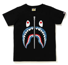 Load image into Gallery viewer, BAPE Ladies' SHARK PATTERN SHARK TEE.  27/MAR - BAPEPLUGTO