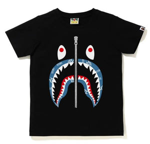 BAPE Ladies' SHARK PATTERN SHARK TEE.  27/MAR - BAPEPLUGTO