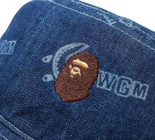 Load image into Gallery viewer, BAPE Ladies' SHARK PATTERN DENIM BUCKET HAT.   27/MAR - BAPEPLUGTO
