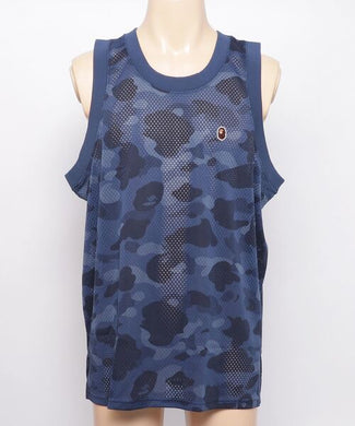 A BATHING APE COLOR CAMO MESH BASKETBALL TANK TOP M - BAPEPLUGTO
