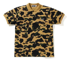 Load image into Gallery viewer, BAPE 1ST CAMO BAPE PATCHED POLO.  24/APR