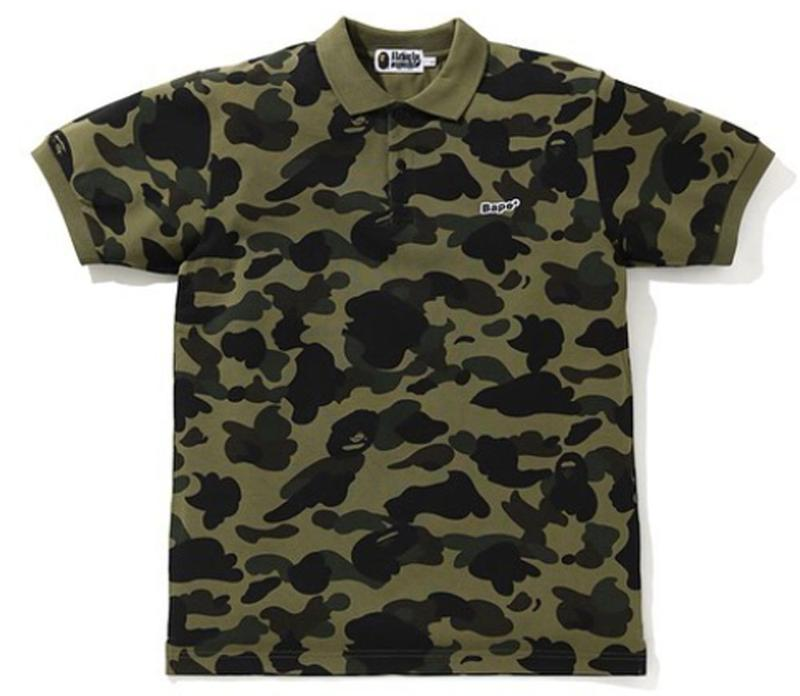 BAPE 1ST CAMO BAPE PATCHED POLO.  24/APR