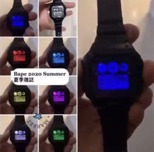 Load and play video in Gallery viewer, A BATHING APE BAPE DIGITAL WATCH w/ MENS 2020 S/S E-MOOK