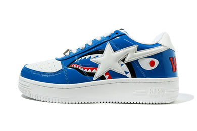 A BATHING APE COLOR BLOCK SHARK BAPE STA LOW BLUE - BAPEPLUGTO