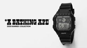 A BATHING APE BAPE DIGITAL WATCH w/ MENS 2020 S/S E-MOOK - BAPEPLUGTO