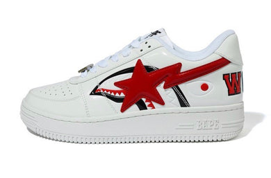 A BATHING APE SHARK BAPE STA LOW WHITE - BAPEPLUGTO