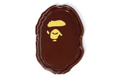 BAPE APE HEAD ASHTRAY BROWN - BAPEPLUGTO