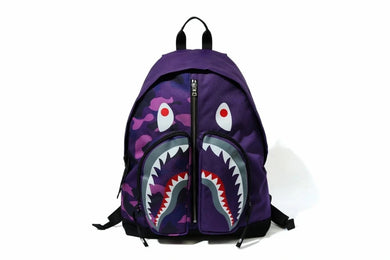 BAPE COLOR CAMO SHARK BACKPACK PURPLE - BAPEPLUGTO