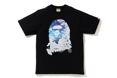BAPE SAKURA PHOTO APE HEAD TEE BLACK - BAPEPLUGTO