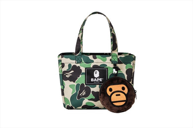 BAPE ABC CAMO MILO TOTE BAG w/ ECO SHOPPING BAG - BAPEPLUGTO