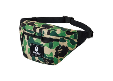 BAPE ABC CAMO WAIST BODY BAG GREEN - BAPEPLUGTO
