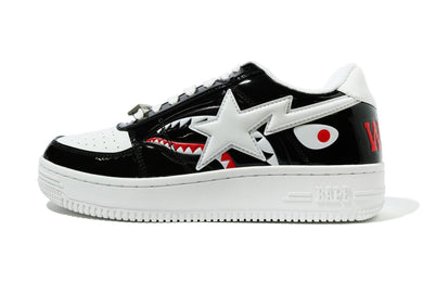 A BATHING APE COLOR BLOCK SHARK BAPE STA LOW BLACK - BAPEPLUGTO