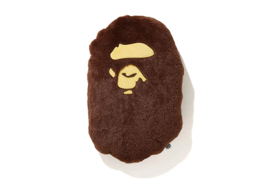 BAPE APE HEAD CUSHION BROWN - BAPEPLUGTO