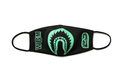 BAPE GLOW IN THE DARK SHARK MASK BLACK - BAPEPLUGTO