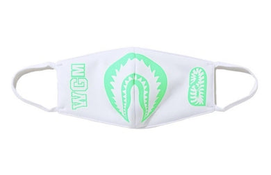 BAPE GLOW IN THE DARK SHARK MASK WHITE - BAPEPLUGTO