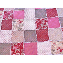 Cottage Chic Floral Rag Quilt Queen Quilt