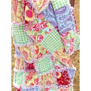 Flannel Lap Rag Quilt Amy Butler Love Fabrics Florals And Dots