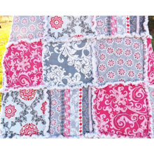 Pink And Gray Modern Rag Quilt Lap Size