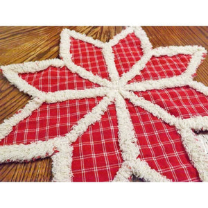 Rustic Table Decor Homespun Rag Quilt Trivet Or Candle Mat Choice Of Colors