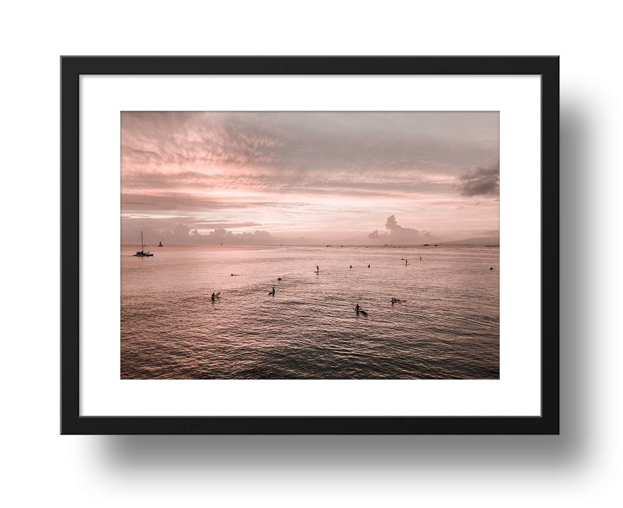 Sunset Sessions (Waikiki), Framed