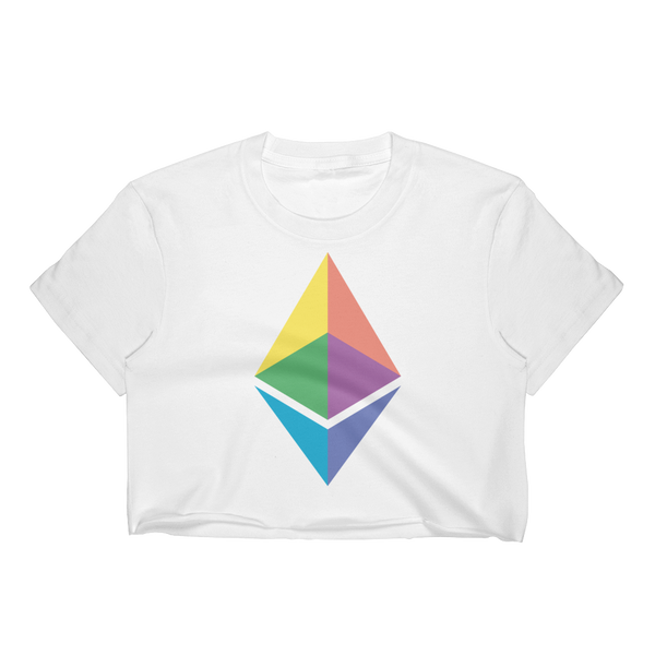 Eth rainbow crop-top
