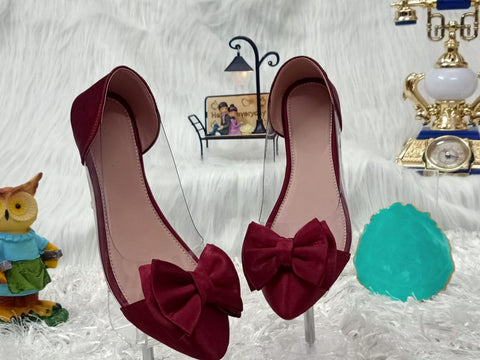 PF Fashion Red Flat Bellies - Ambitionmart
