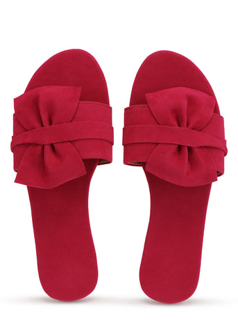 PKKART Red Flats For Women and Girls (M-012-RD) - Ambitionmart