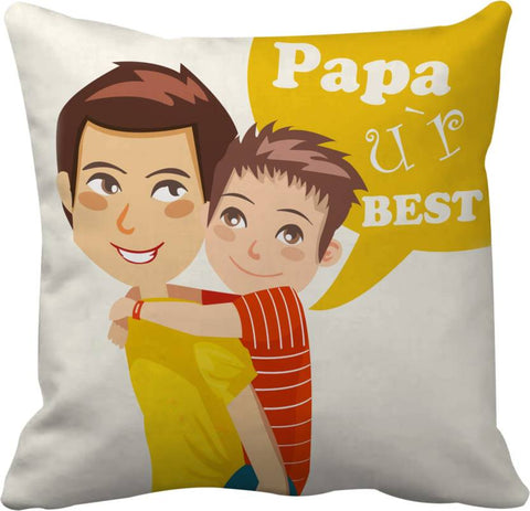 Papa U R Best Printed Cushions Cover - Ambitionmart