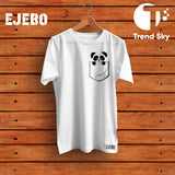 Ejebo Round Neck Pocket Panda T-Shirt For Mens - Ambitionmart