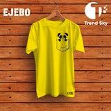 Ejebo Round Neck Pocket Panda T-Shirt For Girls - Ambitionmart