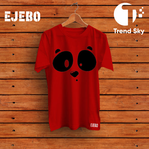 "Ejebo Round Neck ""Cute Panda"" T-Shirt For Mens - Ambitionmart"