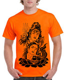 "Ejebo Bhola T-Shirt For Men's ""Lord Shiv & Parwati"" - Ambitionmart"