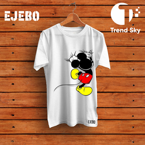 "Ejebo Round Neck ""Mickey"" T-Shirt For Mens - Ambitionmart"