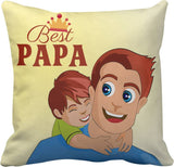 Best Papa Printed Cushions Cover - Ambitionmart