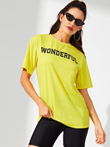 Wonderful Printed Women's Round Neck T-Shirt - Ambitionmart