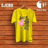 "Ejebo Round Neck ""Be Unique"" T-Shirt For Girls - Ambitionmart"