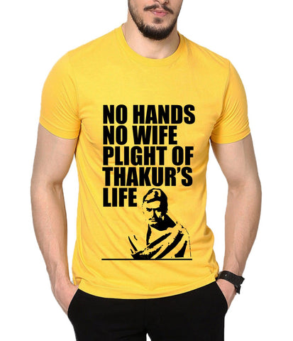 f032266af Ejebo Ejebo Printed Men's Round Neck Yellow T-Shirt-Ambitionmart