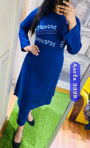 Aarfa Pure Woollen Kurti With Pant 3339 - Ambitionmart