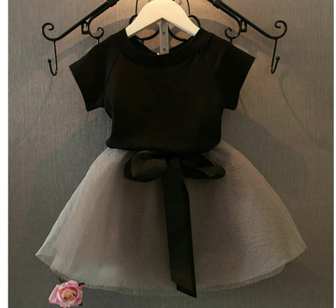 Smart Top and Skirt Set For Girls