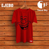 Ejebo Round Neck Smile T-Shirt For Mens - Ambitionmart