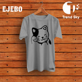Ejebo Round Neck Cat T-Shirt - Ambitionmart