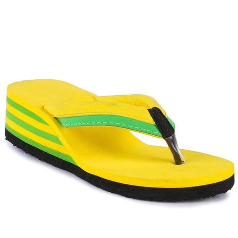 PKKART Yellow High Heel FlipFlop For Women & Girls (SVF-05) - Ambitionmart