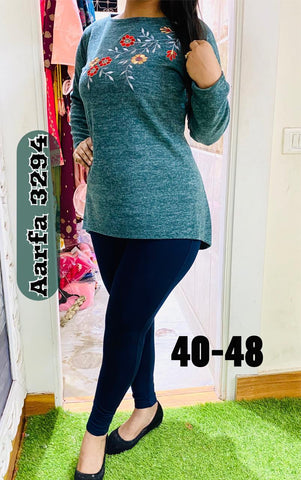 Aarfa Woollen Top 3294 - Ambitionmart
