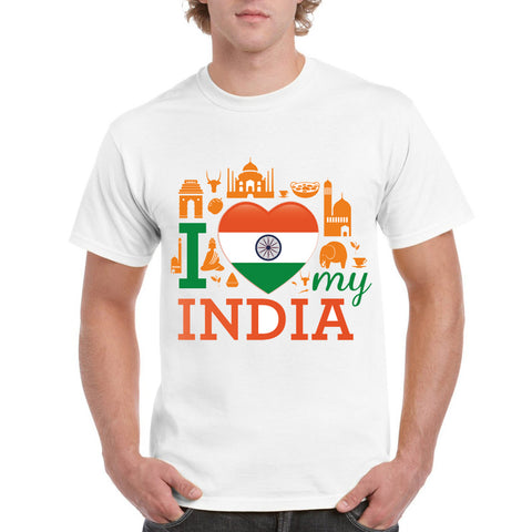 I Love India Men's Round Neck T-Shirt - Ambitionmart