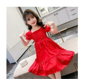Beautiful Red Frock For (5-8 Years) - Ambitionmart