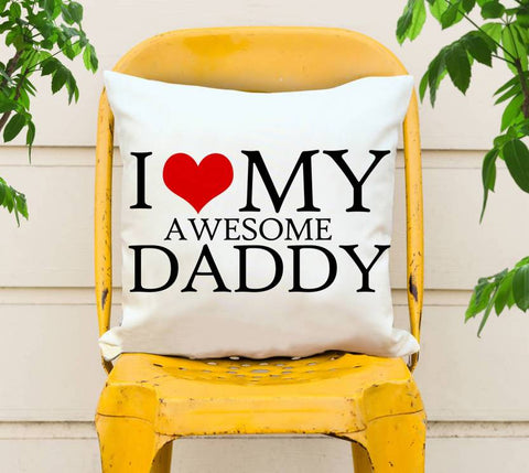 Awesome Daddy Printed Cushions Cover - Ambitionmart