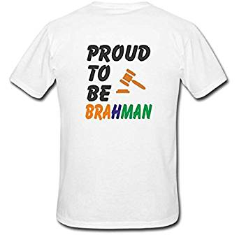 8462c20b2 Ejebo Proud To Be Brahman Printed Men's Round Neck T-Shirt-Ambitionmart