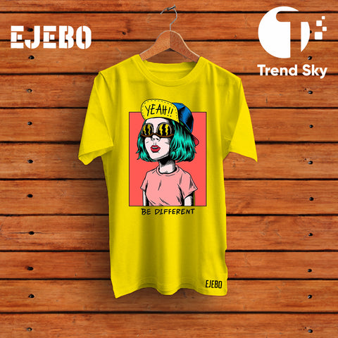 Ejebo Round Neck Be Different T-Shirt - Ambitionmart